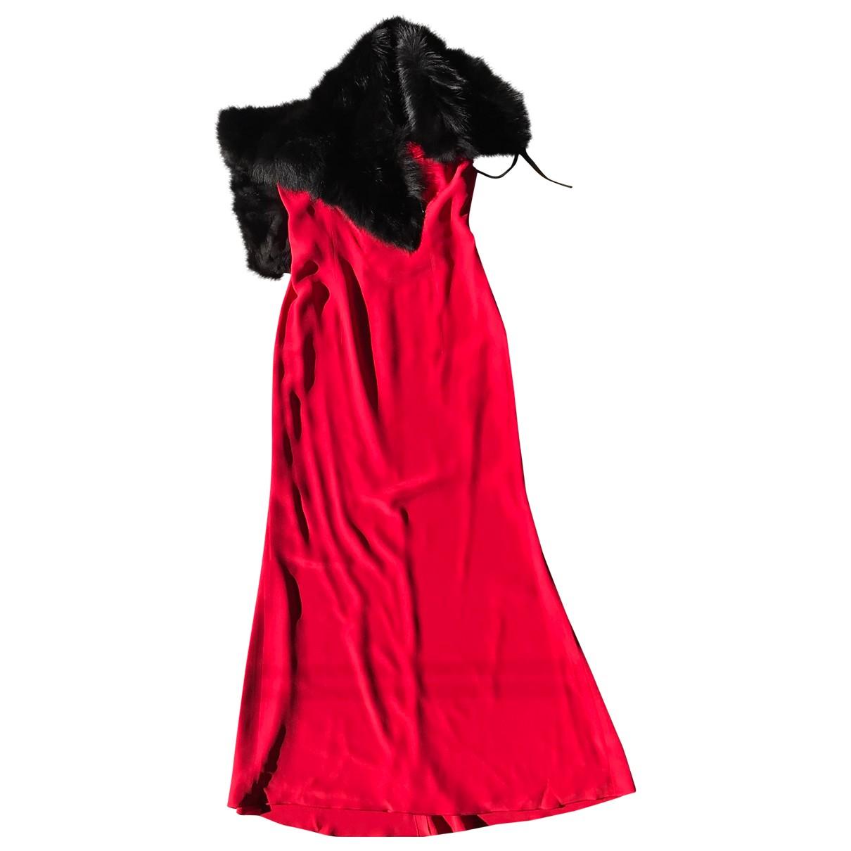 Red Valentino Garavani \N Kleid in  Rot Seide