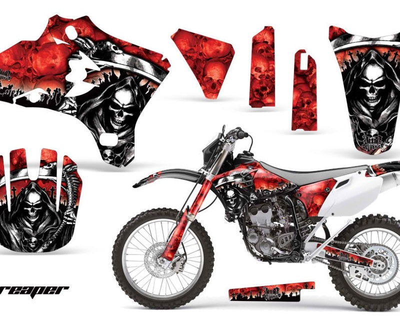 AMR Racing Dirt Bike Graphics Kit Decal Wrap For Yamaha WR250 WR450F 2005-2006áREAPER RED