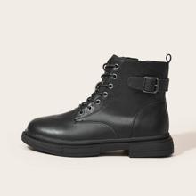 Minimalist Lace-up Front Combat Boots