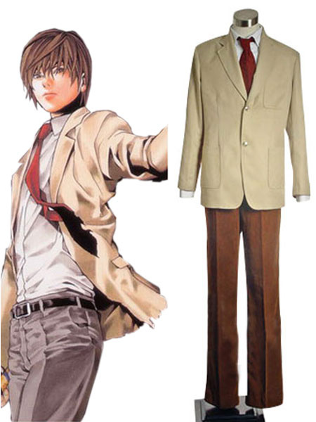 Milanoo Death Note Yagami Light Halloween cosplay costume Halloween