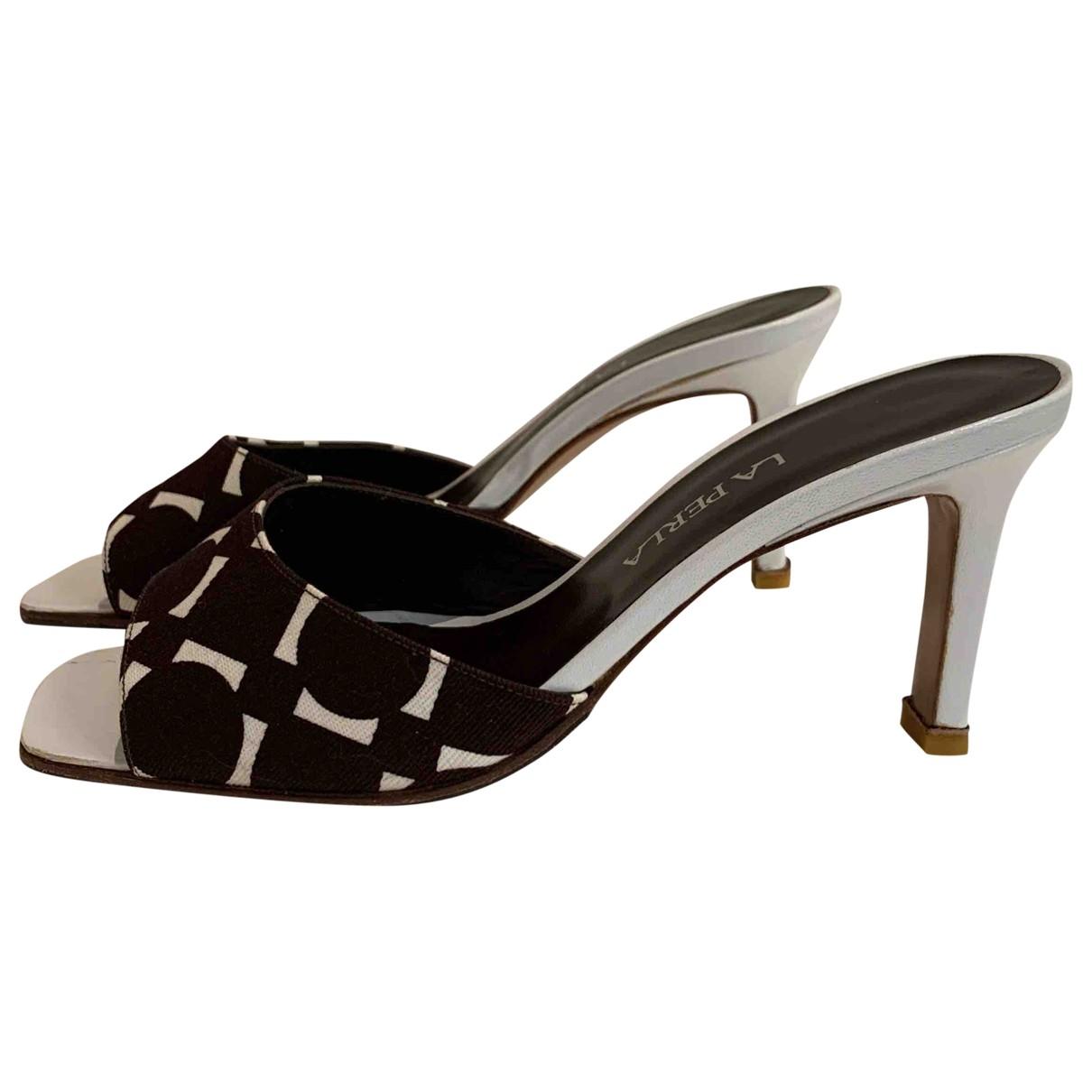 La Perla \N Brown Cloth Sandals for Women 37 EU