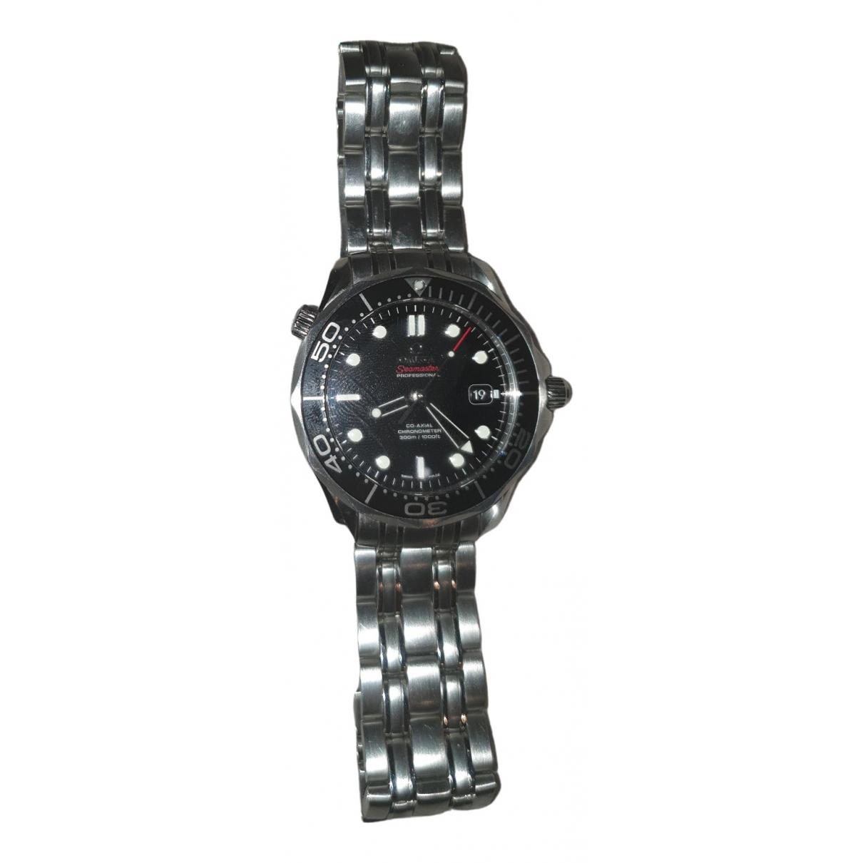 Omega - Montre Seamaster 300 pour homme en acier - gris