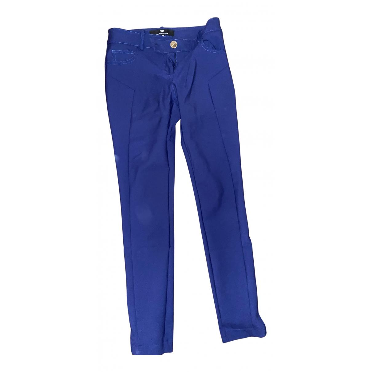 Elisabetta Franchi N Blue Trousers for Women 40 IT