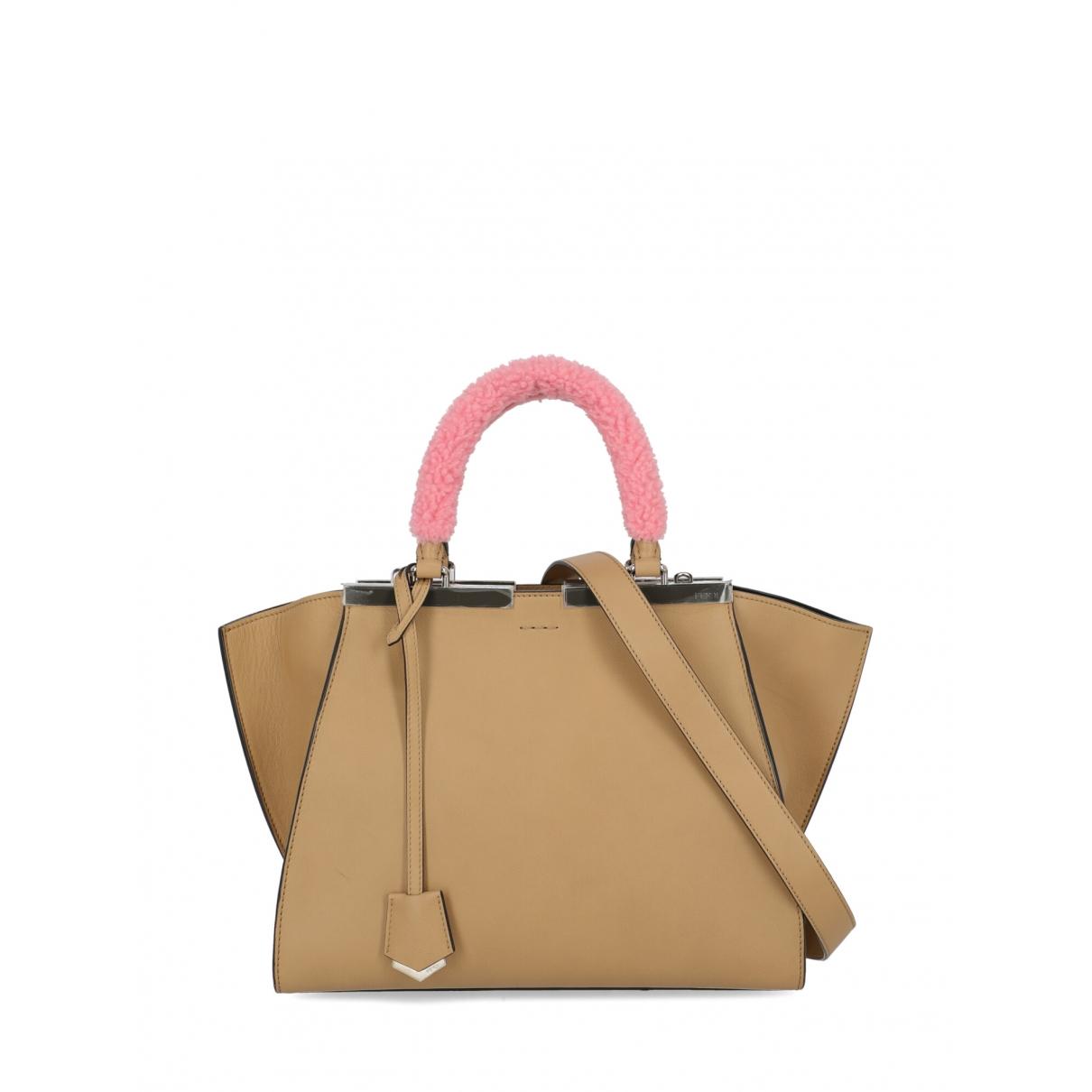 Fendi 3Jours Beige Leather handbag for Women \N