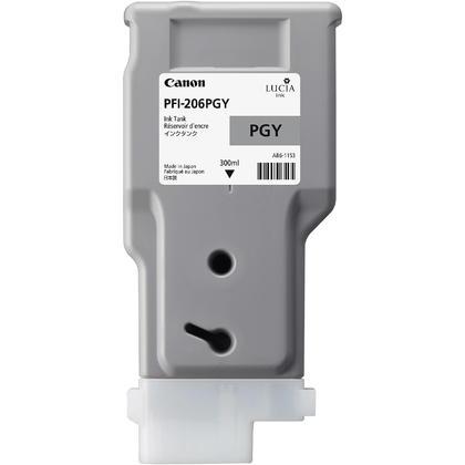 Canon PFI-206PGY 5313B001AA Original Photo Gray Ink Cartridge