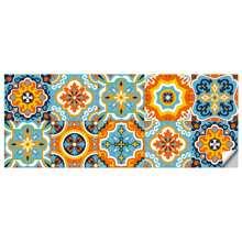 Pegatina de azulejo con estampado de dibujo