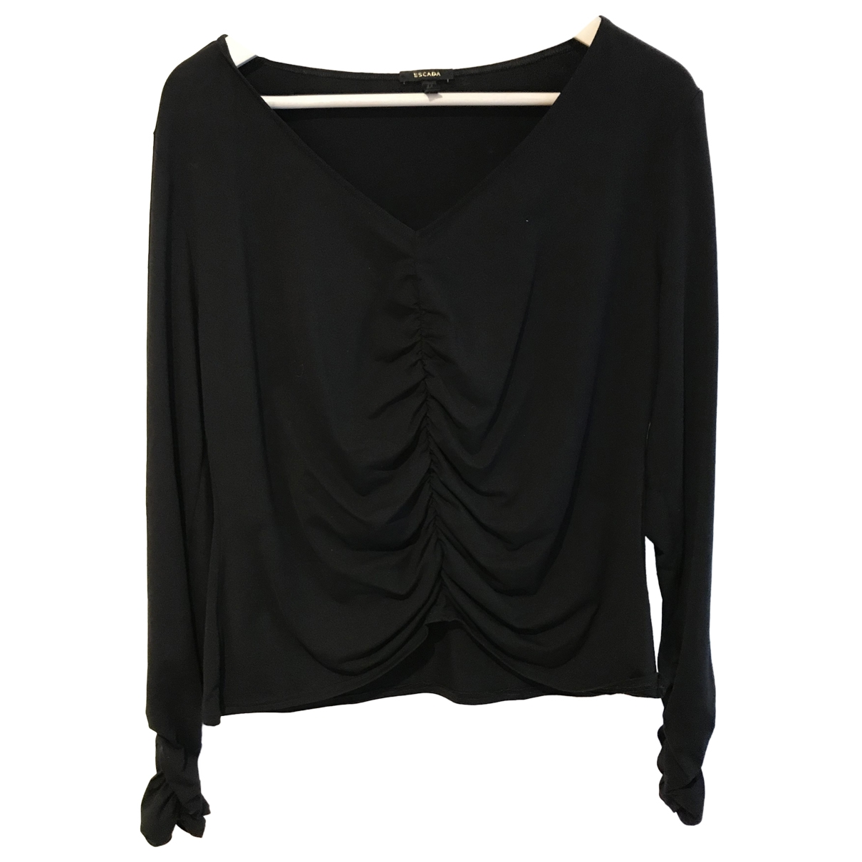 Escada \N Black Cotton  top for Women 44 FR