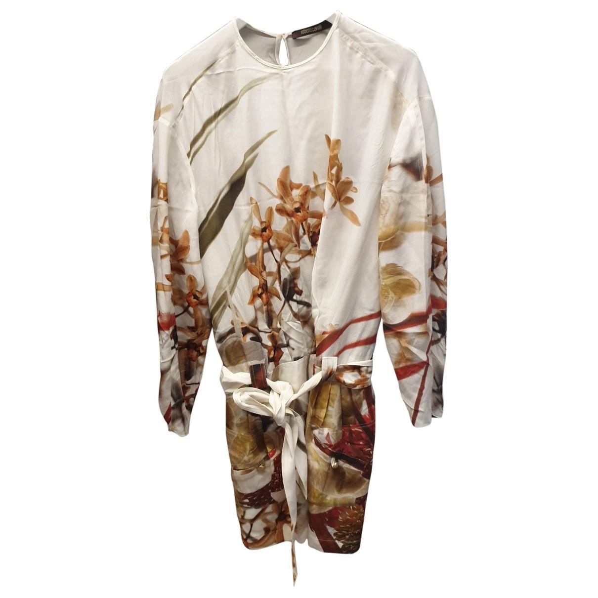 Vestido midi de Seda Roberto Cavalli