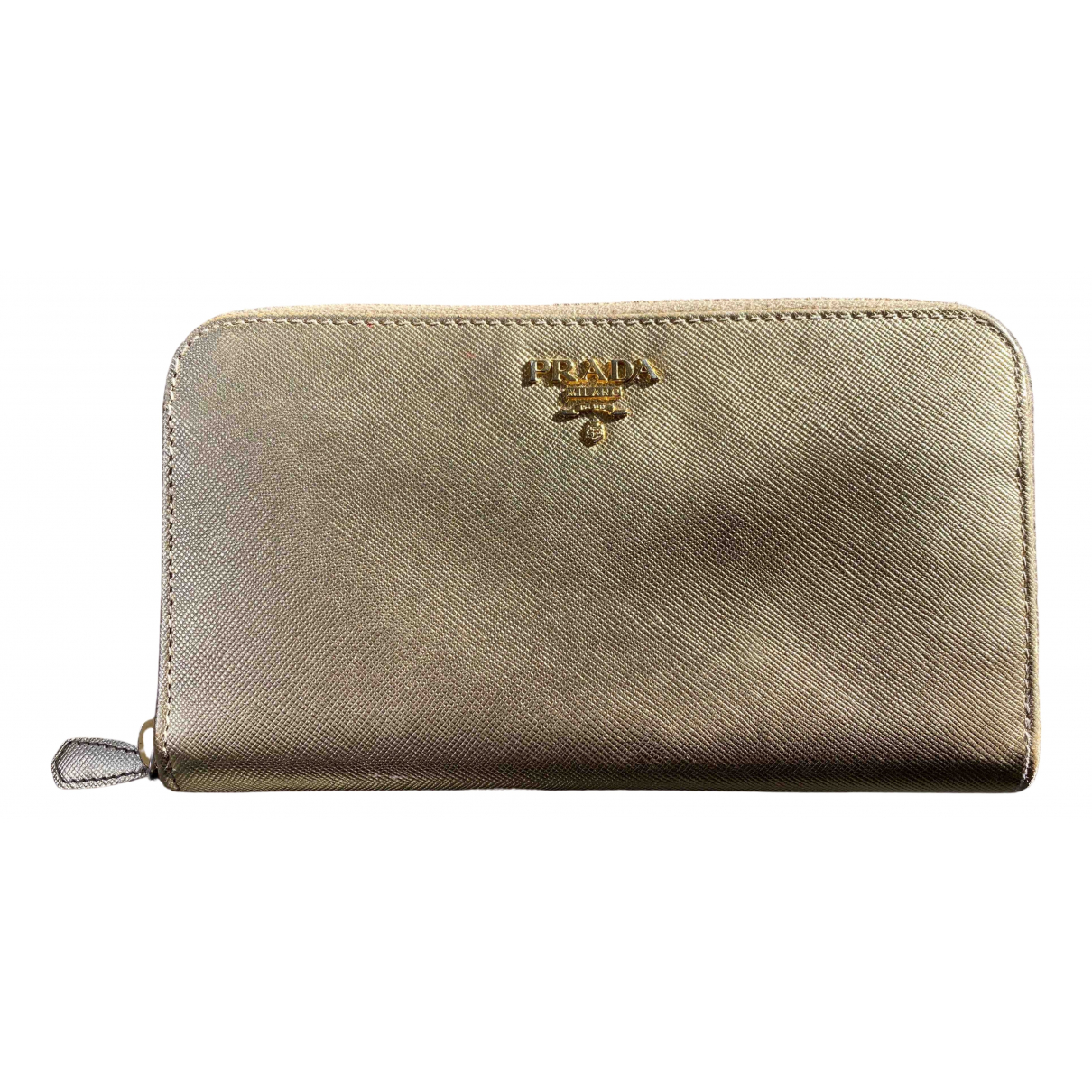 Prada N Gold Leather wallet for Women N