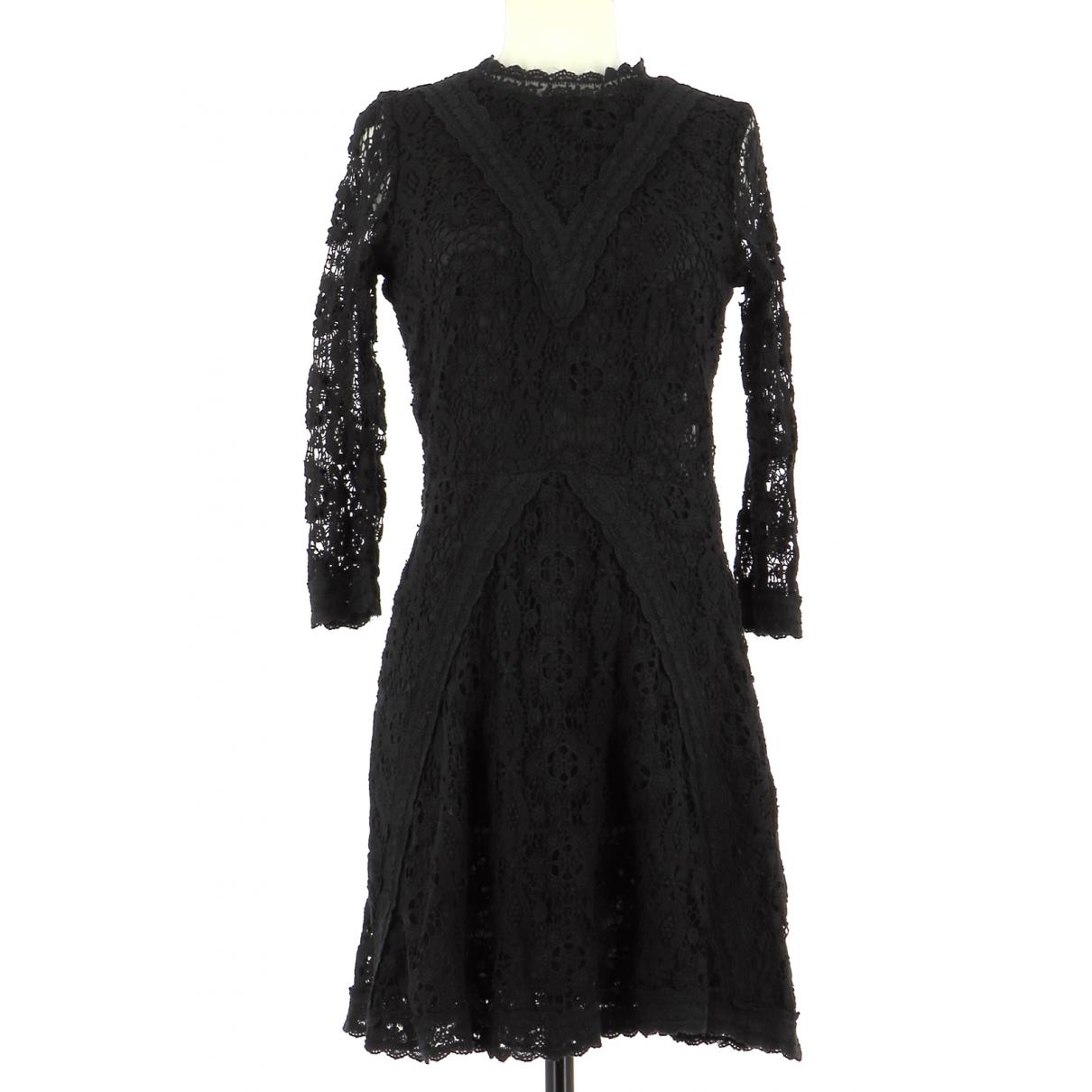 Maje - Robe   pour femme en coton - noir