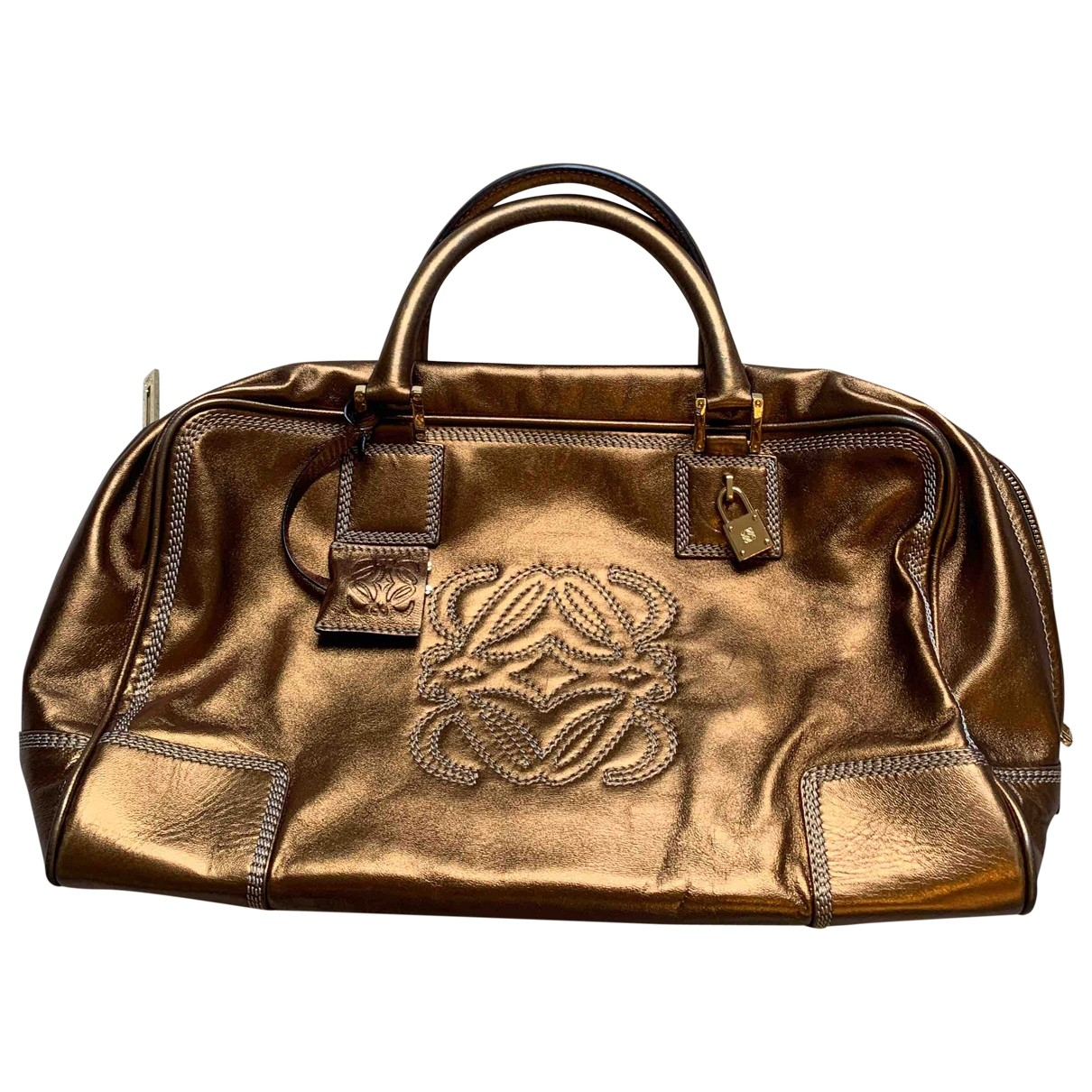 Loewe - Sac a main Amazona pour femme en cuir - metallise