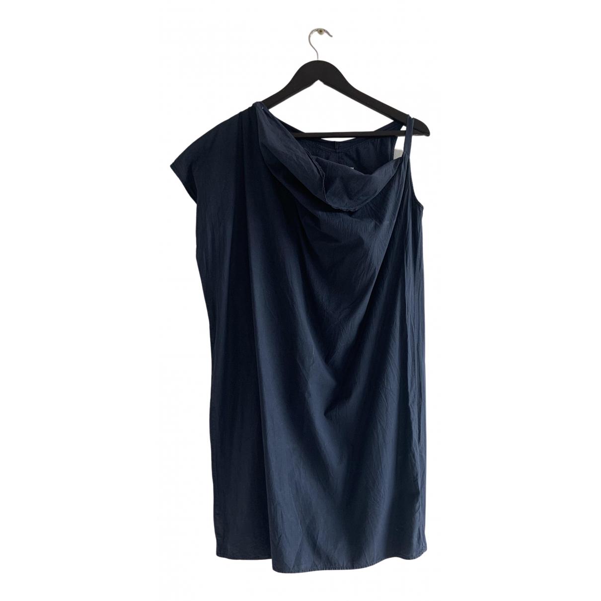 Mm6 \N Kleid in  Marine Leinen