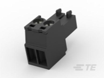 TE Connectivity , TB 3.5mm Pitch, 2 Way PCB Terminal Block, Black (200)