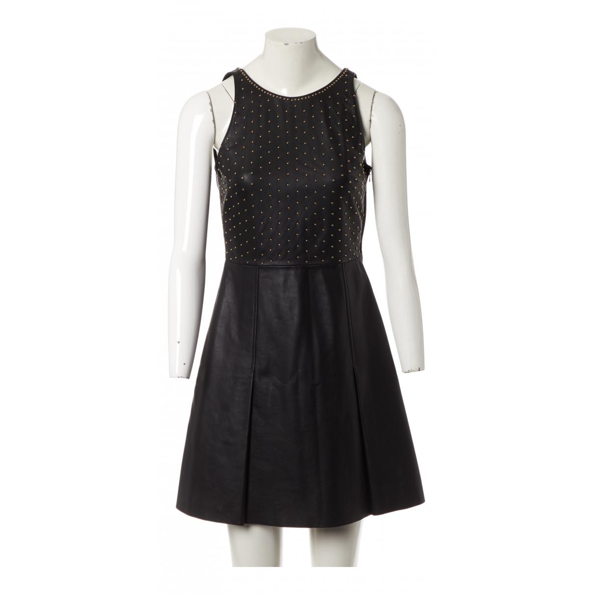 Moschino \N Kleid in  Schwarz Leder
