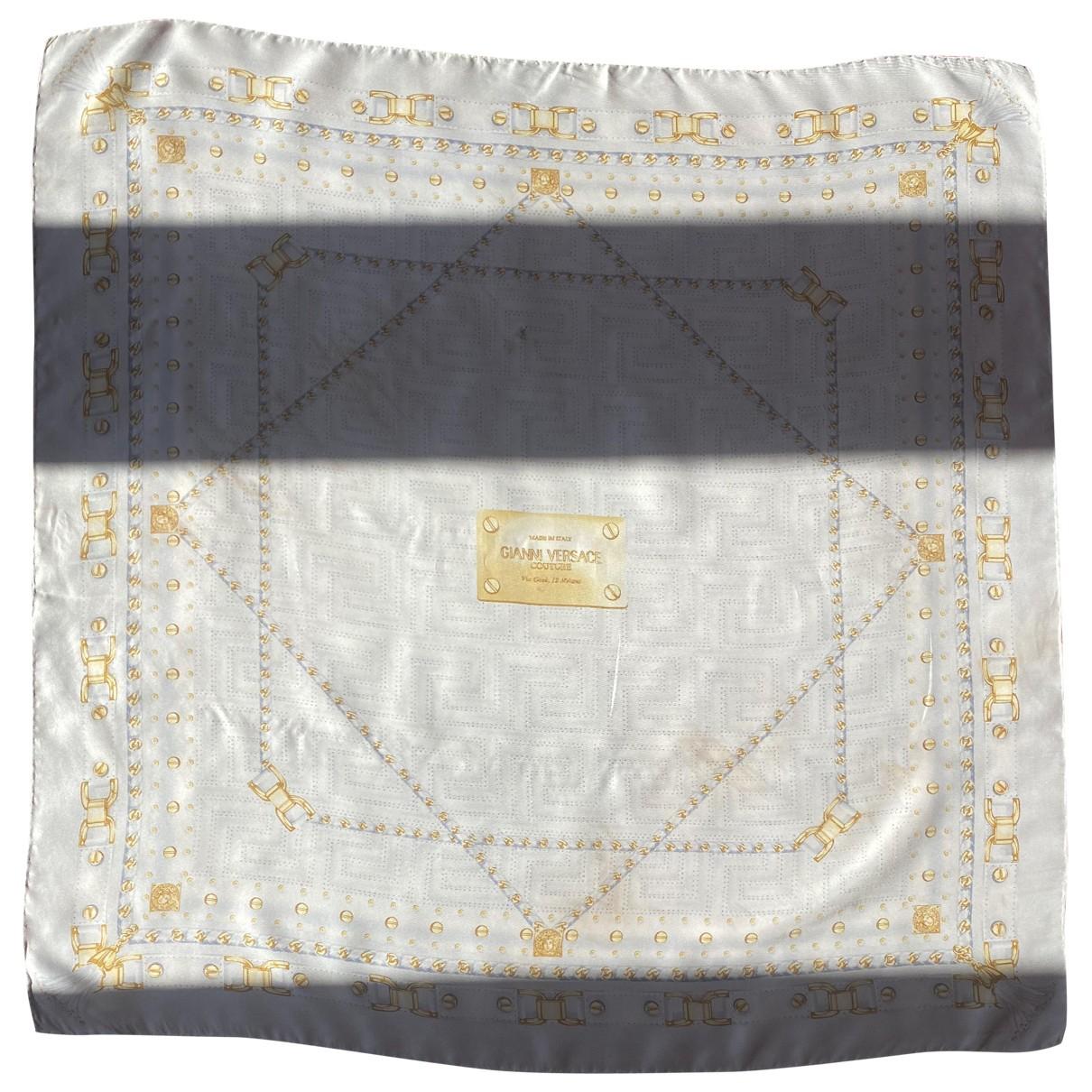 Gianni Versace - Foulard   pour femme en soie - bleu