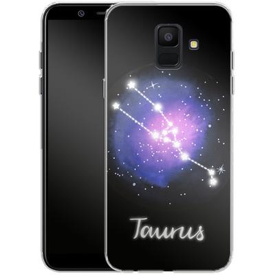 Samsung Galaxy A6 Silikon Handyhuelle - TAURUS von Becky Starsmore