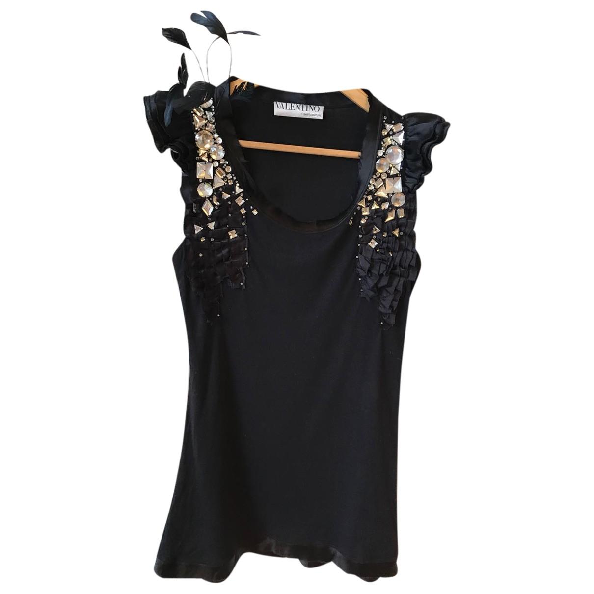 Valentino Garavani N Black  top for Women 6 UK