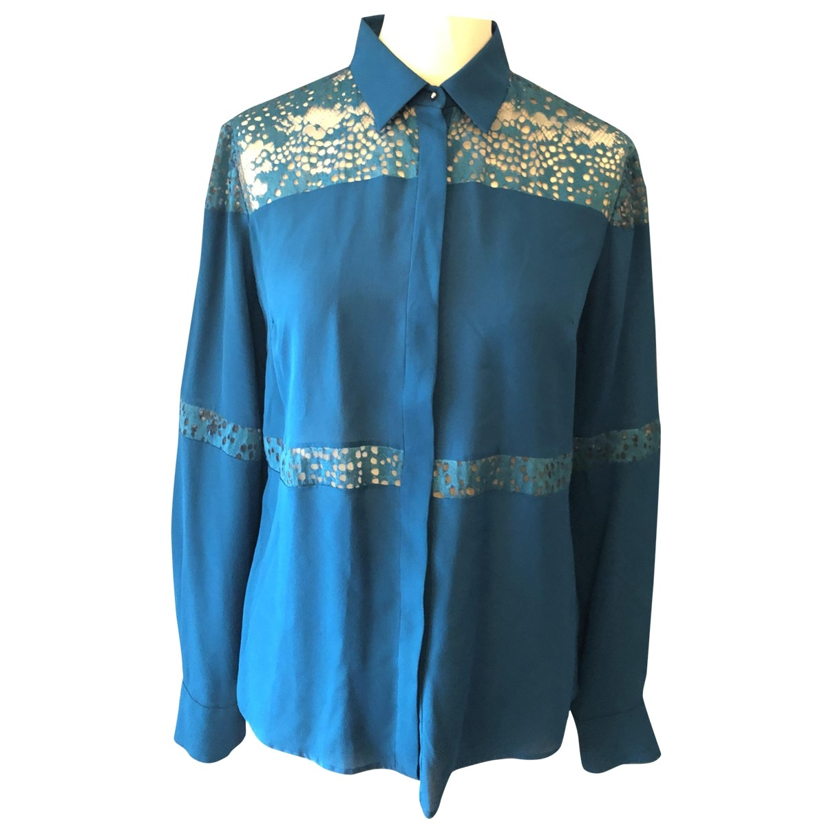 Elie Saab \N Turquoise Silk  top for Women 38 FR