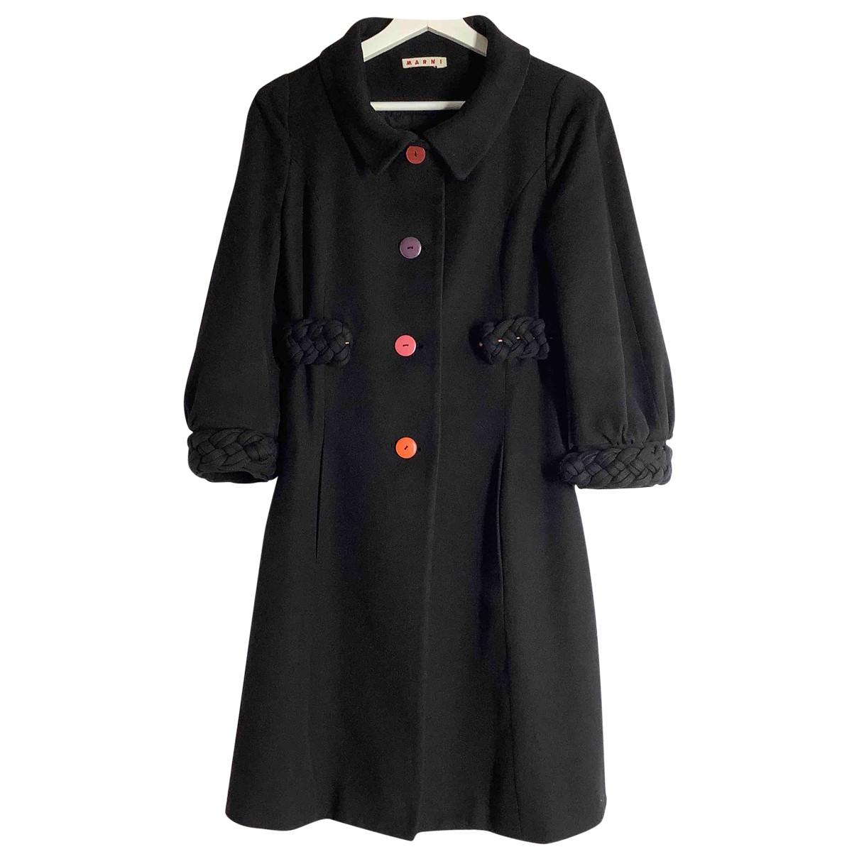 Marni - Manteau   pour femme en laine - noir