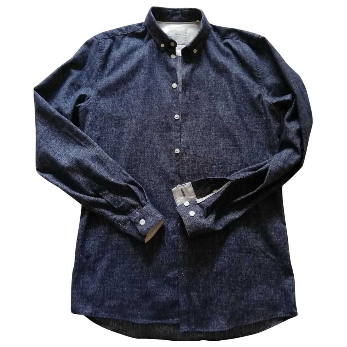 Minimum - Chemises   pour homme en coton - bleu
