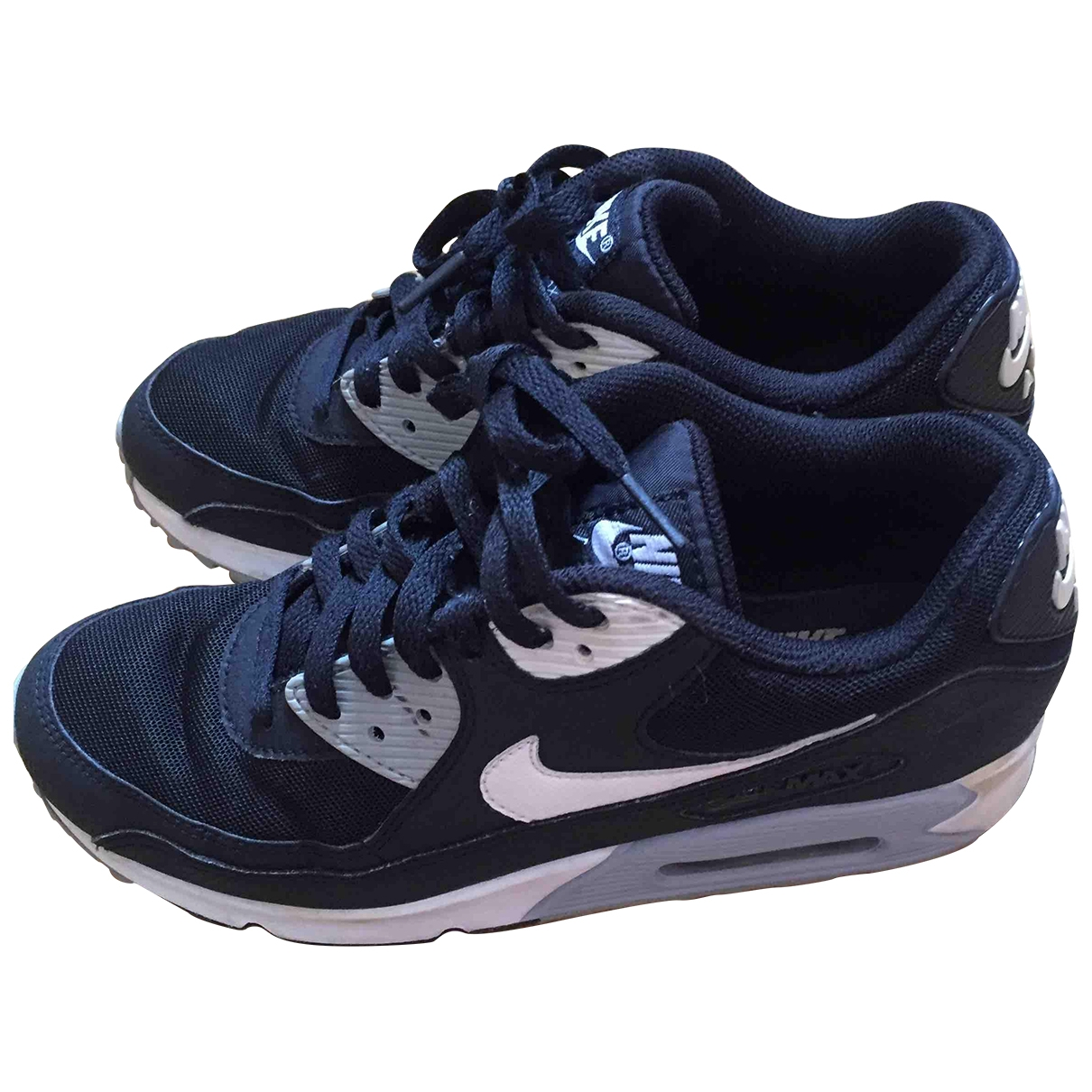 Nike Air Max 90 Black Leather Trainers for Women 39 EU