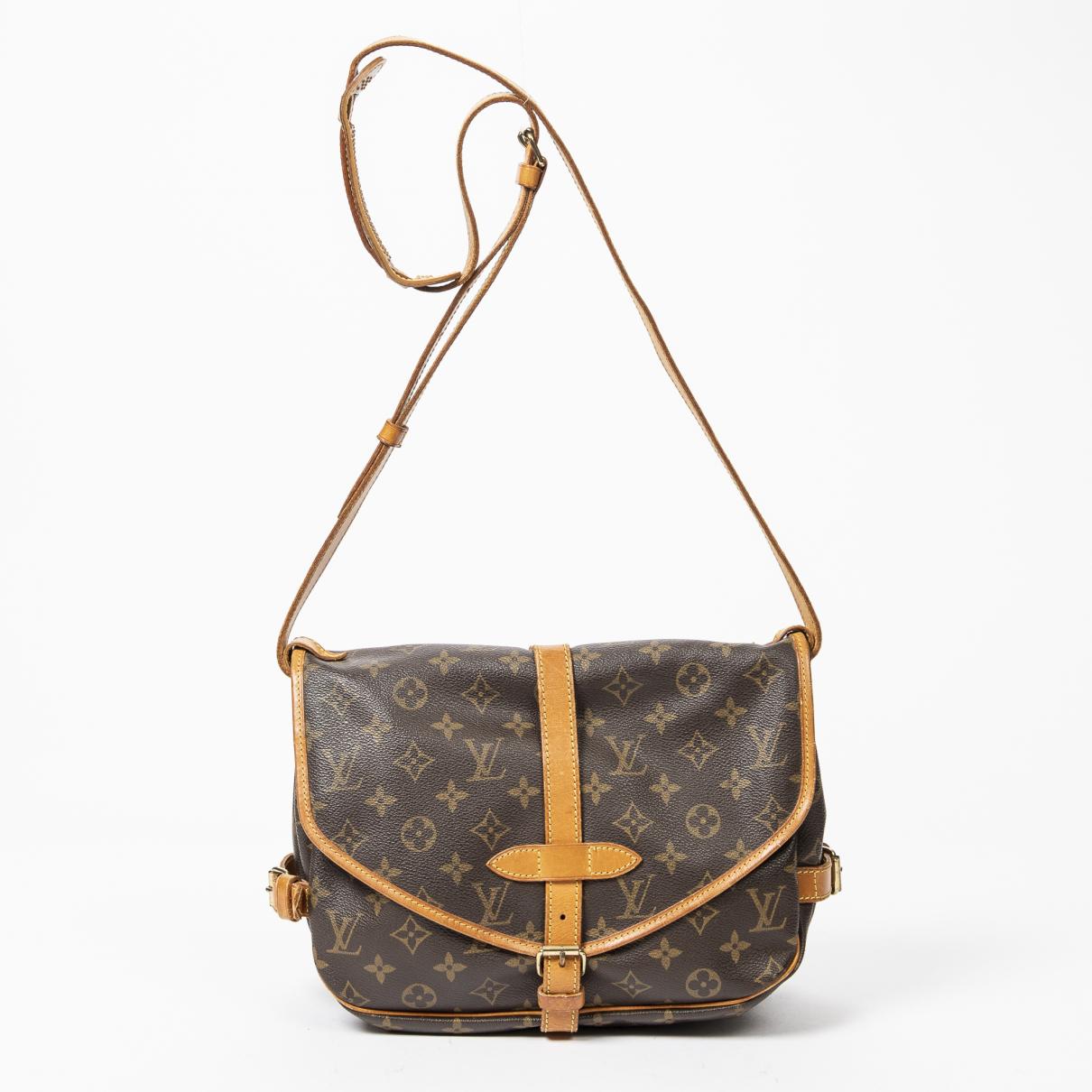 Louis Vuitton Saumur Brown Cotton handbag for Women \N