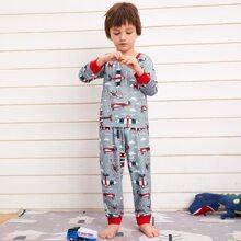 Conjunto de pijama con estampado de dibujos animados
