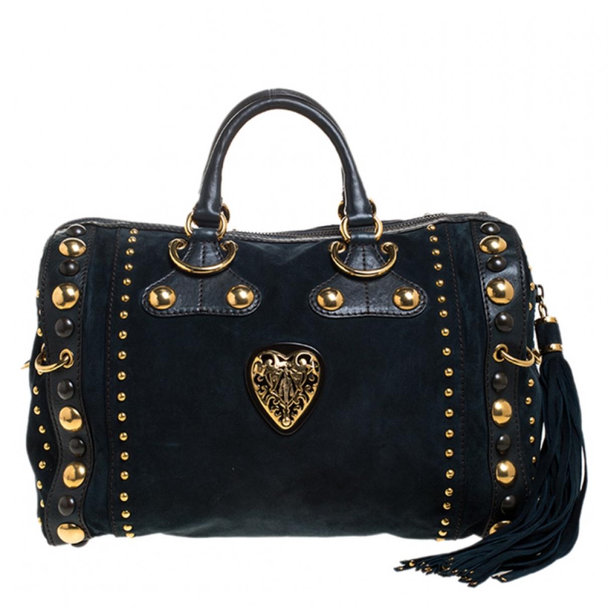 Gucci \N Handtasche in  Gruen Leder