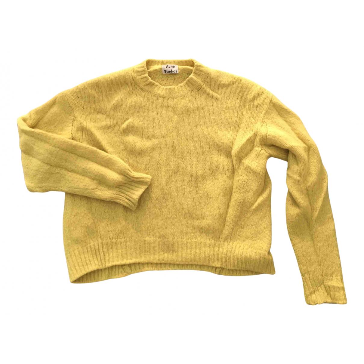 Acne Studios N Yellow Wool Knitwear for Women S International