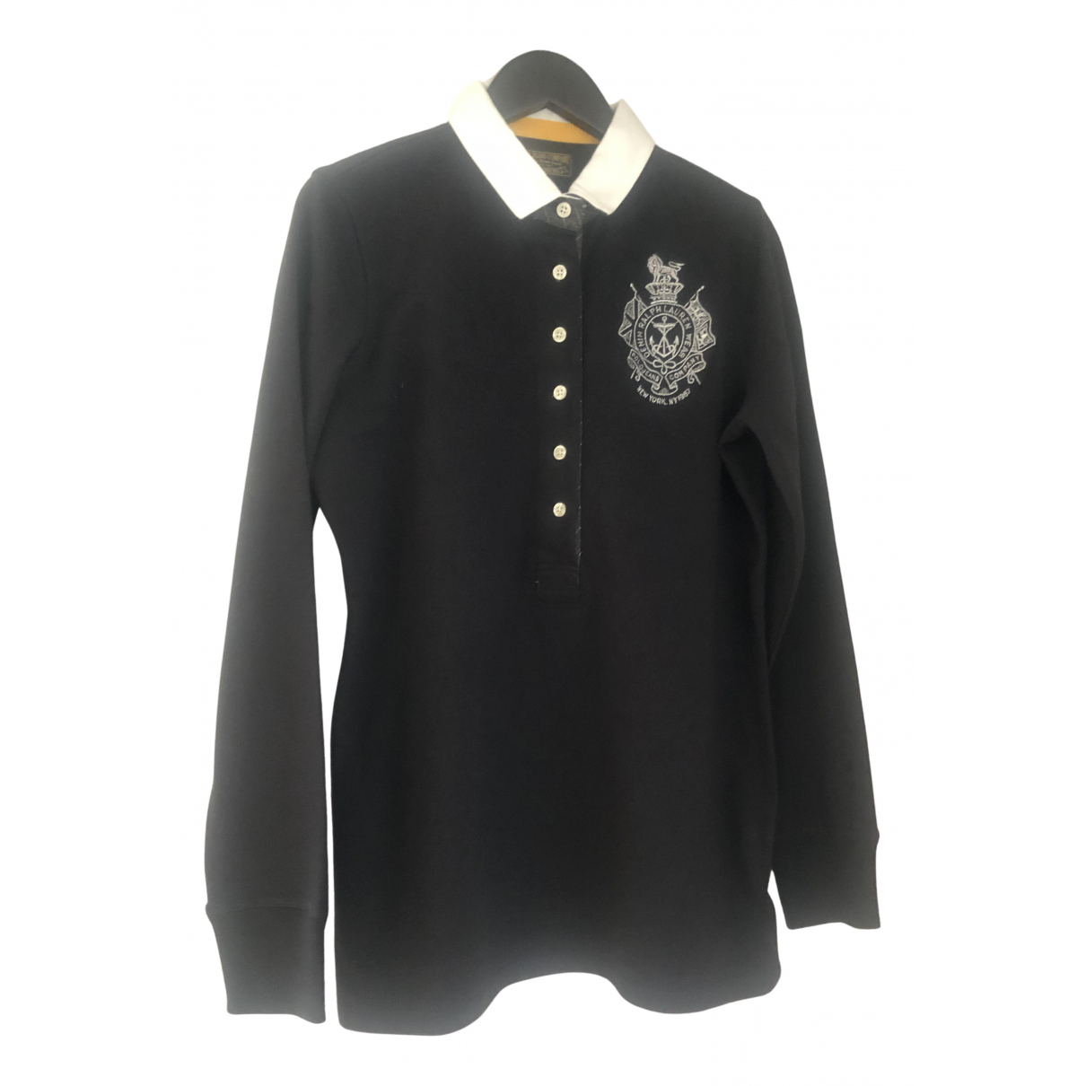 Polo Ralph Lauren Polo cintre manches longues Top in  Schwarz Baumwolle