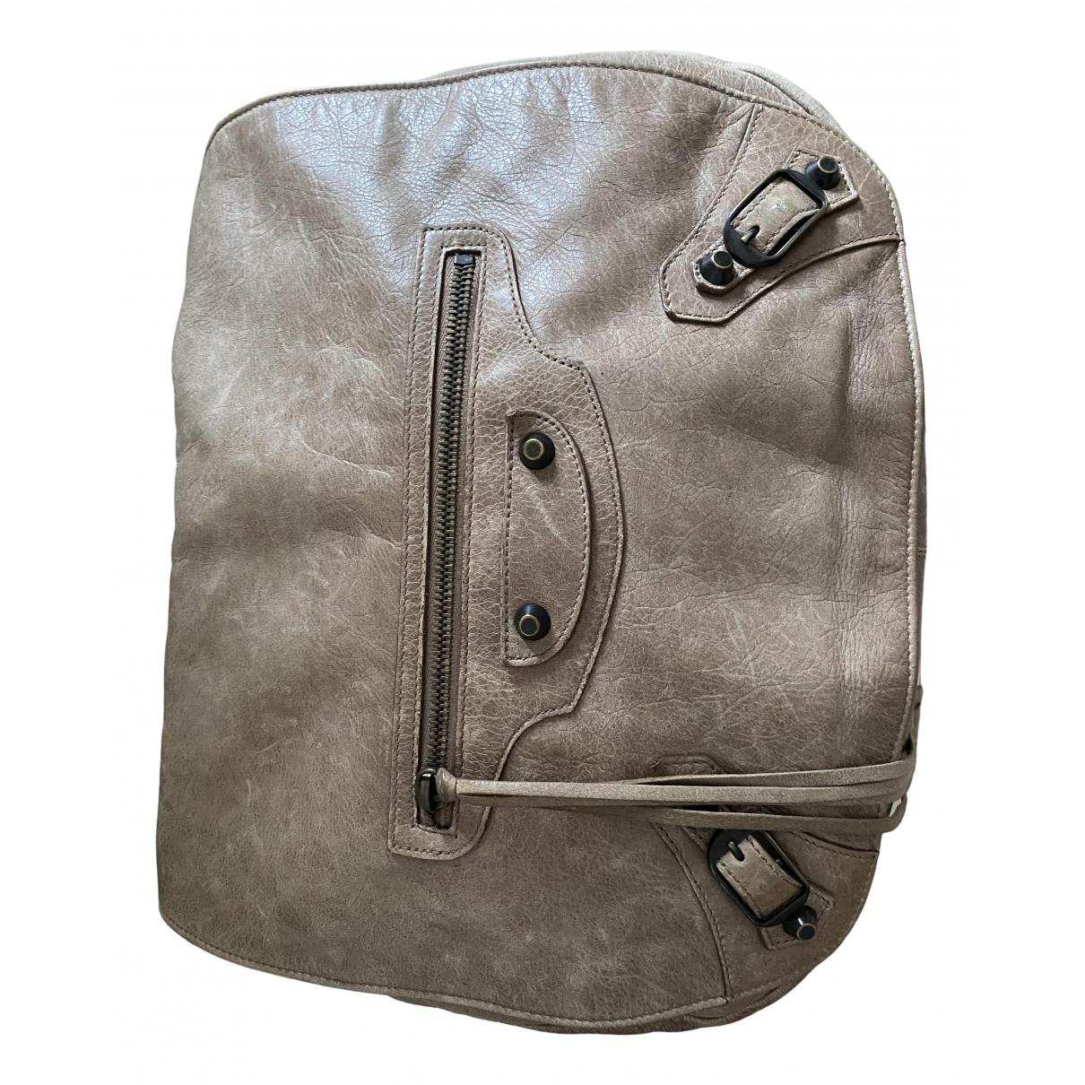 Balenciaga N Beige Leather handbag for Women N