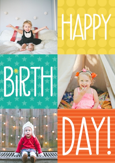 Birthday Party Invites 5x7 Cards, Premium Cardstock 120lb with Elegant Corners, Card & Stationery -Bright Color Box Birthday by Well Wishes