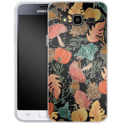 Samsung Galaxy J3 (2016) Silikon Handyhuelle - Fall Woodland Black von Mukta Lata Barua