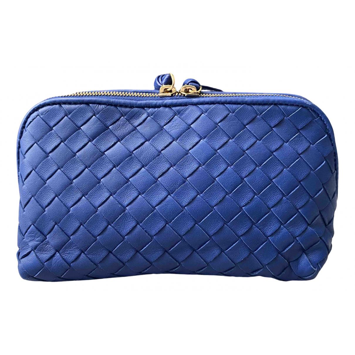 Bottega Veneta - Sac de voyage   pour femme en cuir - bleu