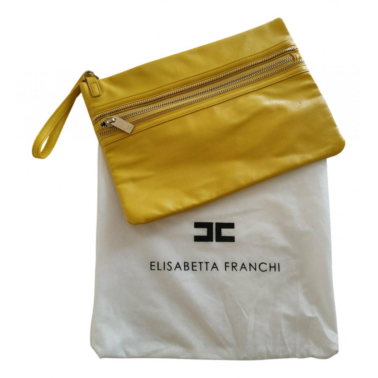 Bolsos clutch en Sintetico Amarillo Elisabetta Franchi
