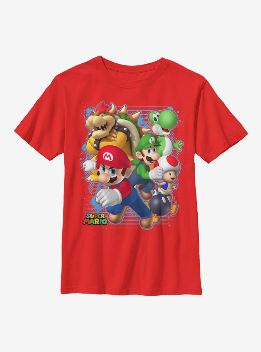 Nintendo Super Mario Blast Out Youth T-Shirt
