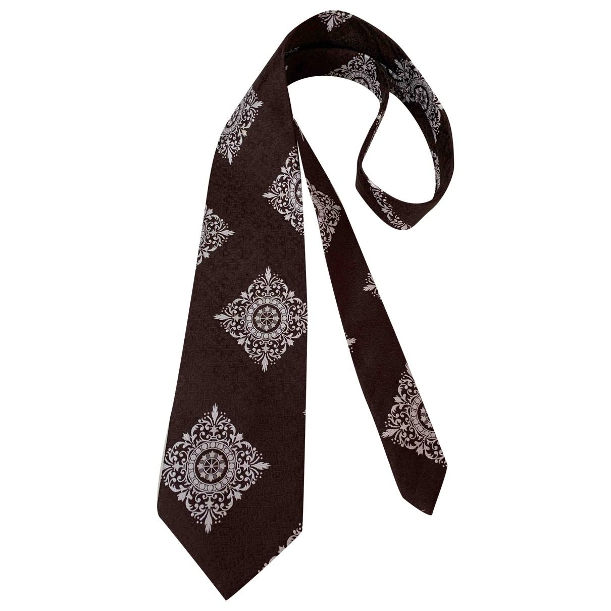 Givenchy \N Krawatten in  Braun Polyester