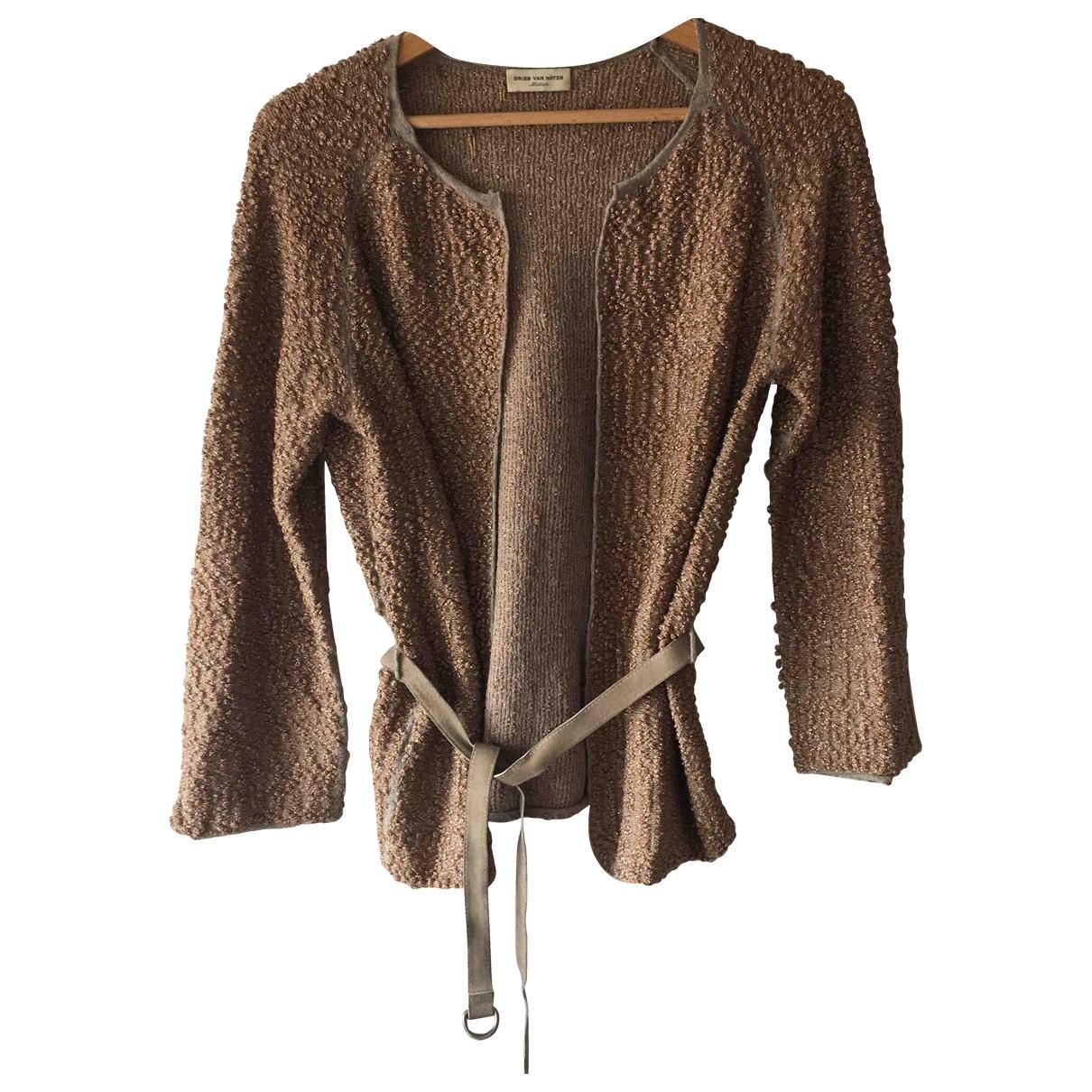 Dries Van Noten \N Pullover in  Gold Wolle