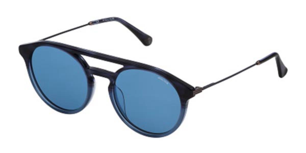 Police SPL722 CLINT 1 09QW Mens Sunglasses Blue Size 53