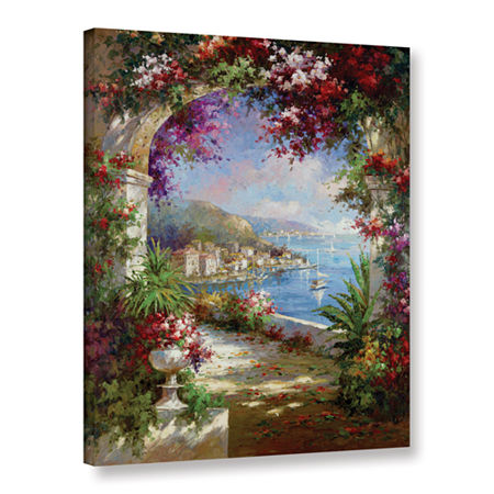 Brushstone Floral Vista Gallery Wrapped Canvas Wall Art, One Size , Green