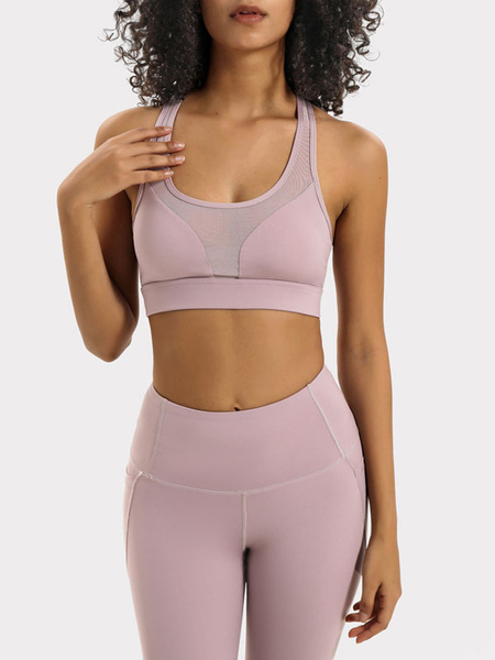 Milanoo Bustier For Women Pink Sexy Cut Out Scoop Neck Sleeveless Polyester Bustiers Corsets Lingerie