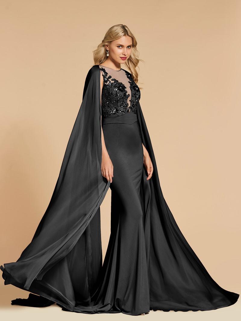 Ericdress Scoop Neck Beaded Sequin Mermaid Evening Dress