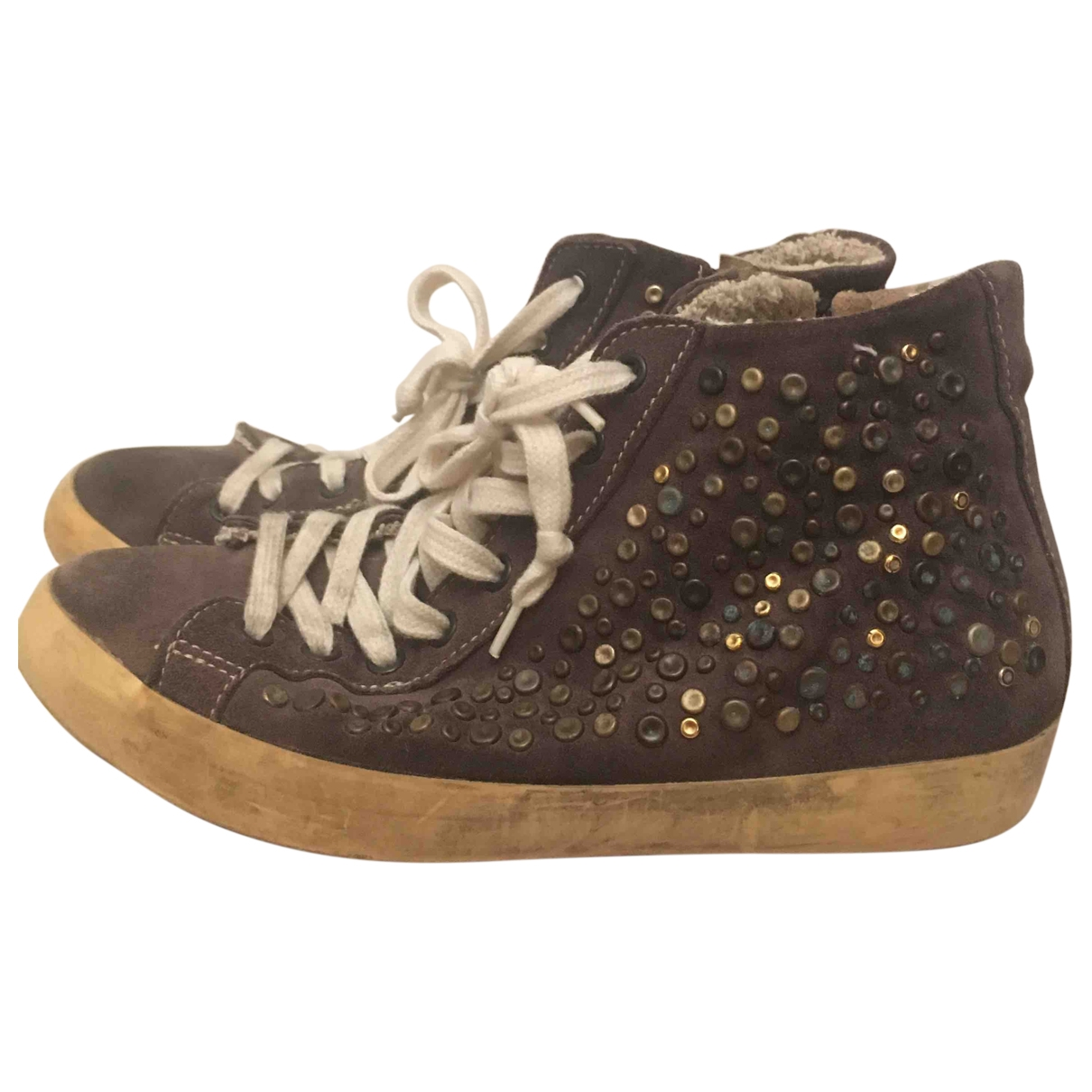 Leather Crown \N Green Suede Trainers for Women 36 EU