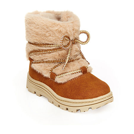 Carter's Toddler Girls Moane Girls Brown Boot Winter Boots Flat Heel, 10 Medium, Brown
