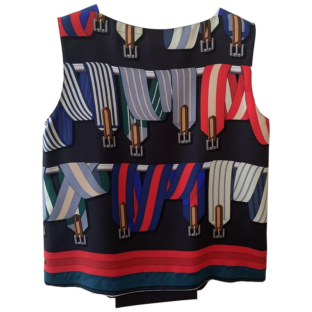 Hermès \N Multicolour Silk  top for Women 34 FR