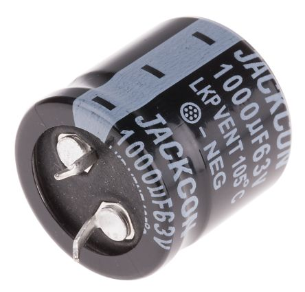 RS PRO 1000μF Electrolytic Capacitor 63V dc, Through Hole (2)