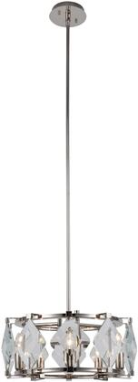 4000D18PN 4000 Endicott Collection Pendant Ceiling Light D:18In H:7.5In Lt:5 Polished Nickel Clear Glass