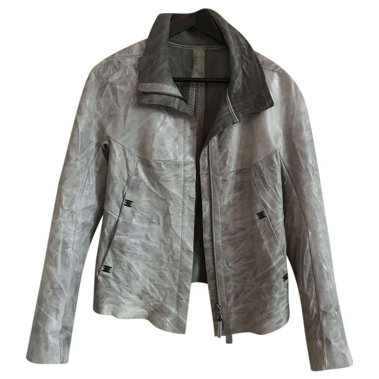 Isaac Sellam N Grey Leather jacket for Women 40 IT