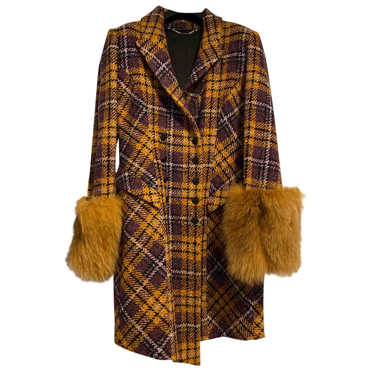 Mangano - Manteau   pour femme en laine - jaune