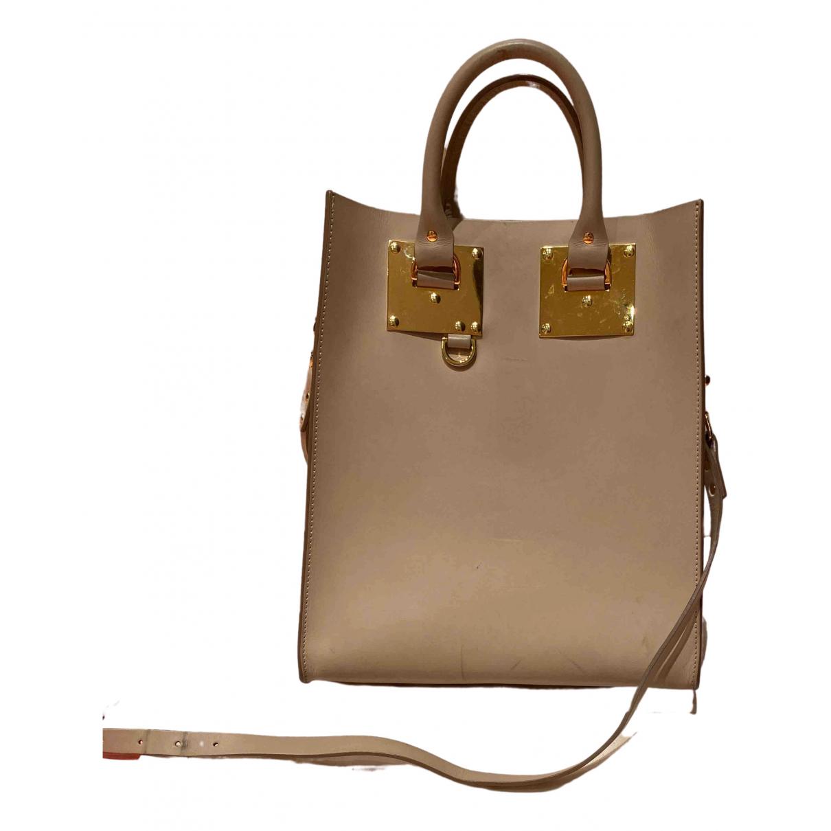 Sophie Hulme \N Handtasche in  Beige Leder